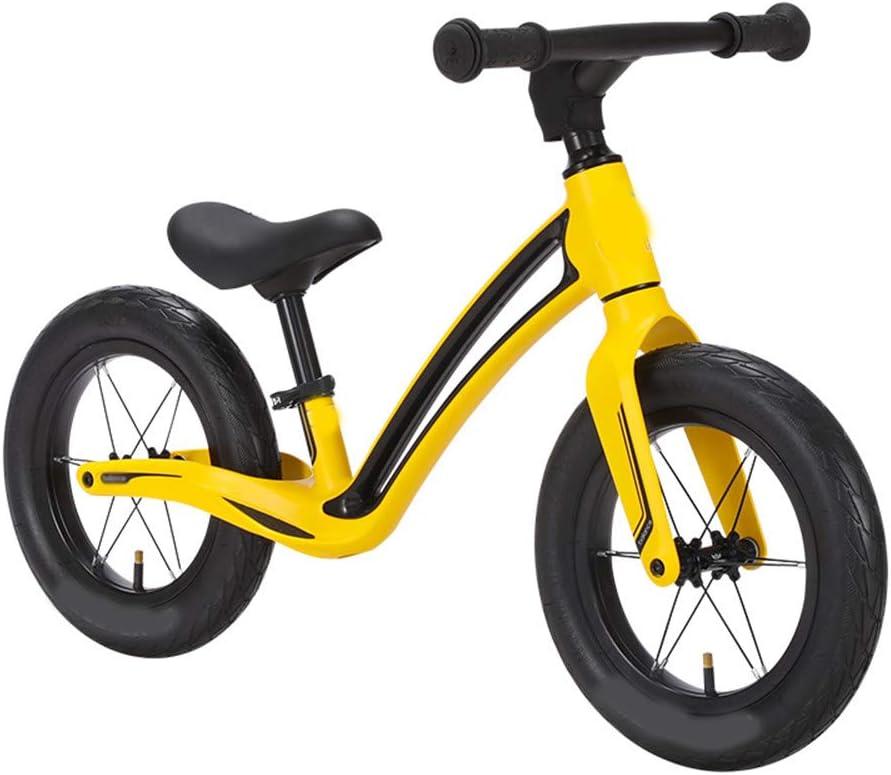 SSCYHT Bicicleta de Equilibrio para niños Bicicleta de Equilibrio para Principiantes para niños Bicicleta de Equilibrio Ligera Niños y niñas Adecuado para niños y niñas de 1.5-5 años,Amarillo