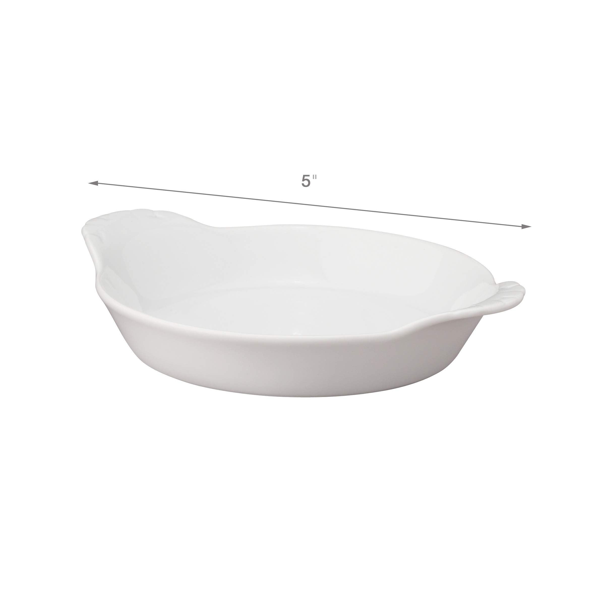HIC Round Au Gratin Baking Dishes, Porcelain, 4-Ounce, 5-Inch, Set of 6 by HIC Harold Import Co. (Image #4)