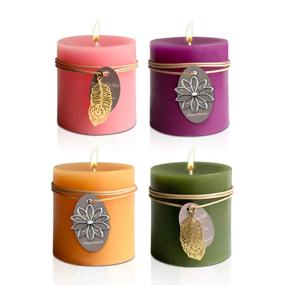 4 Colour Scented Candles- Ideal Diwali Gift