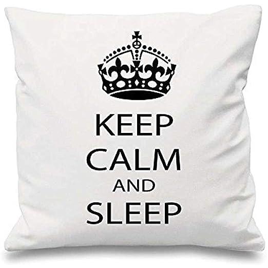 123RoyWarner - Funda de cojín con Texto en inglés Keep Calm ...