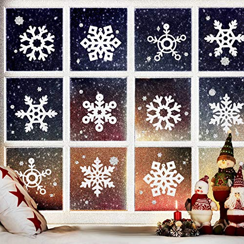 (Boao 36 Pieces Christmas Glitter Snowflake Ornaments Snowflake Decoration Cutouts for Winter Wonderland Wedding Birthday Party Christmas Tree Decoration DIY Crafts)