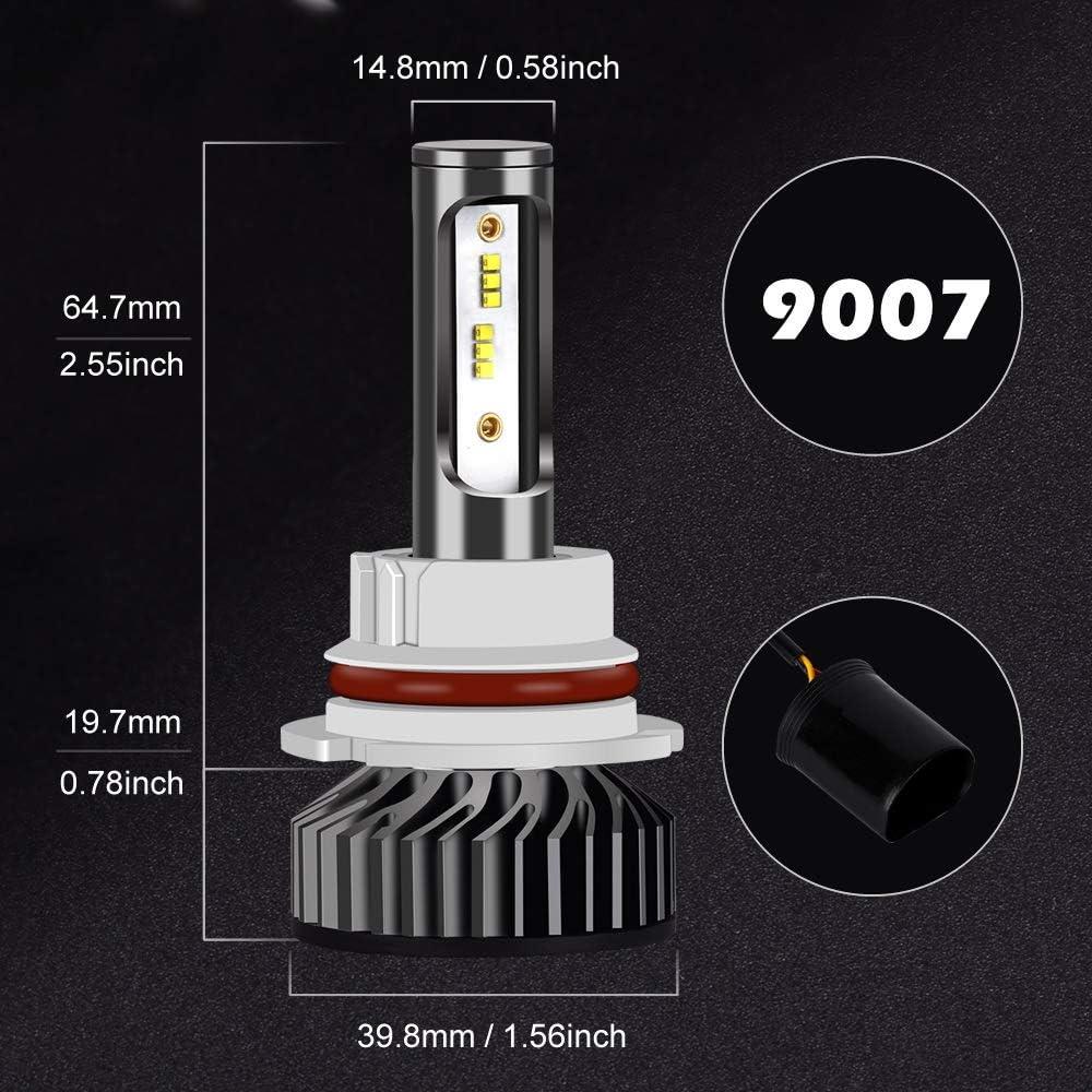 Noir Infitary-9005 HB3 Phare Ampoules Voiture Auto ZES Chip 64W IP67 Imperm/éable 2 Ampoules