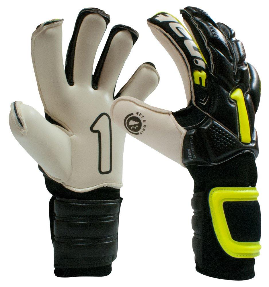 Rinat Egotiko Professional Goalkeeper Glove (BLACK/NEON, 8)