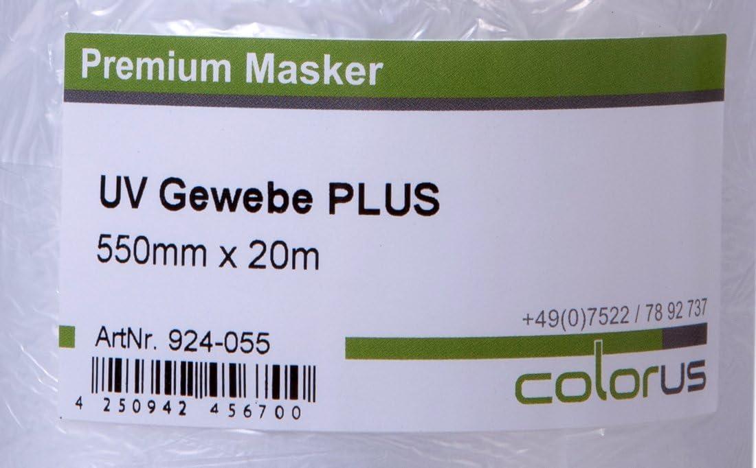 Maskerband Tape Folie Klebeband Gewebemasker ? Abdeckband Colorus Masker Tape PLUS UV Gewebe 20 Meter mit 30 cm Abdeckfolie