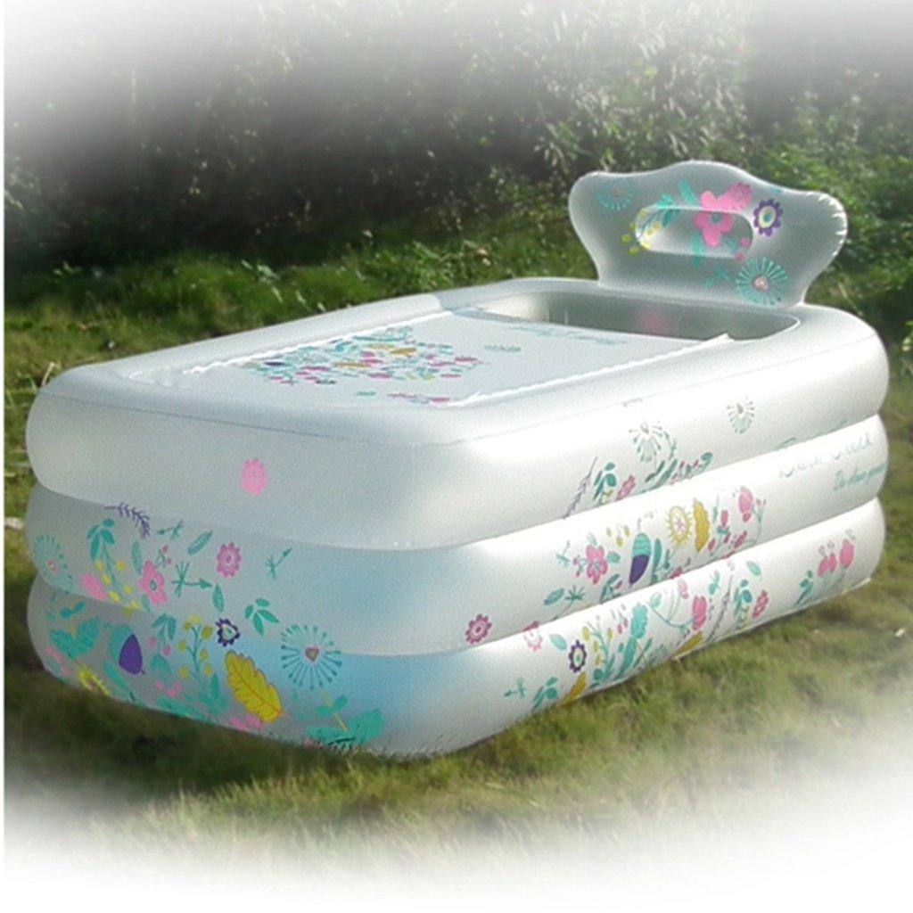 Type E KTYX Simple Thickening Inflatable Bathtub Household Adult Bath Artifact Folding Bath Barrel Mu Inflatable bathtub (Size   Type F)