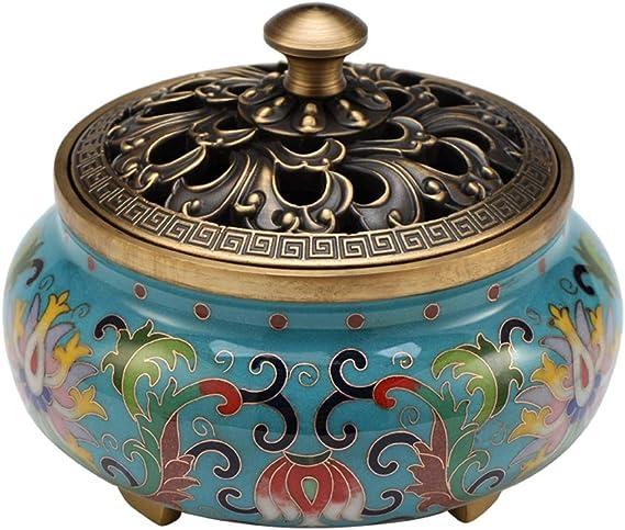 芳香器・アロマバーナー 家庭用純銅香炉屋内大型サンダルウッドプラグ香アロマ炉エナメル色の仏香炉 アロマバーナー芳香器