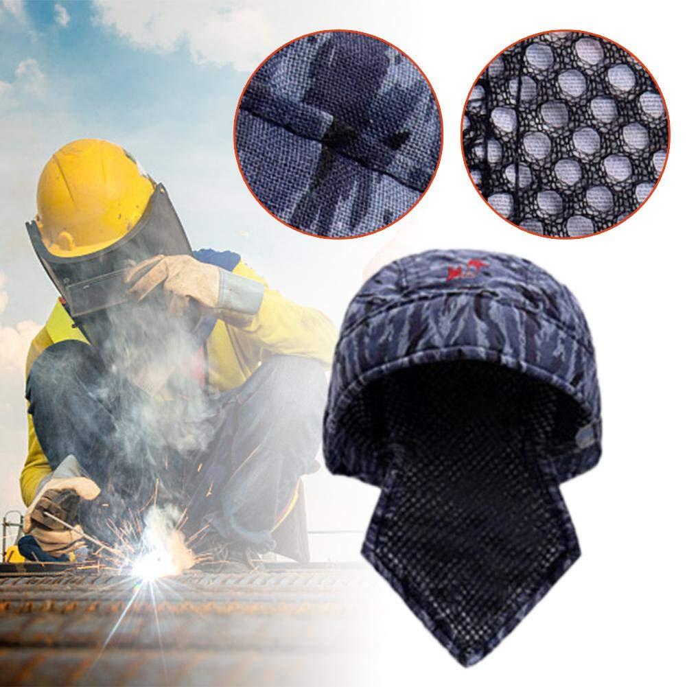 Gorra Trabajo Tipo Lavable Retardante de Llama Resistente al Fuego Protector para la Cabeza de Soldadura Sombrero Pa/ñuelo de Soldadura Equipo de Protecci/ón Soldador Anti-escaldar Sombrero