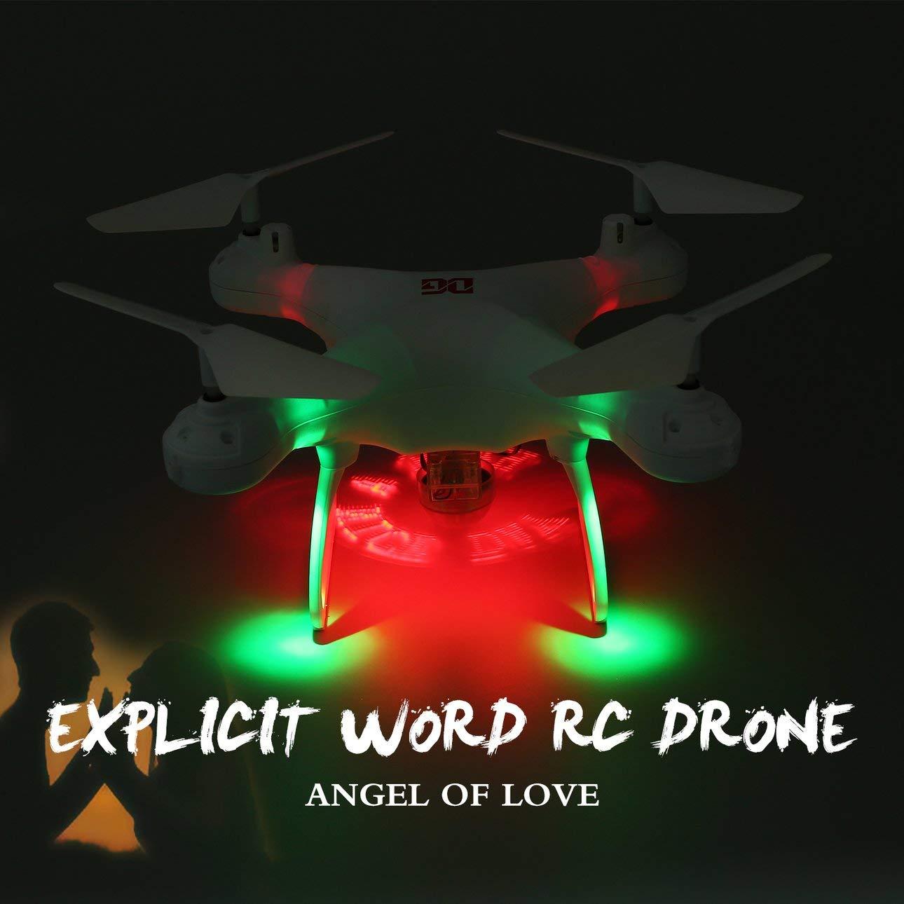 Ballylelly-Drohne XG183 RC 2,4G RC Drohne Drohne Drohne mit Höhe Halten LED Flash Wort Programmierbare Requisiten von Ballylyly 11e105