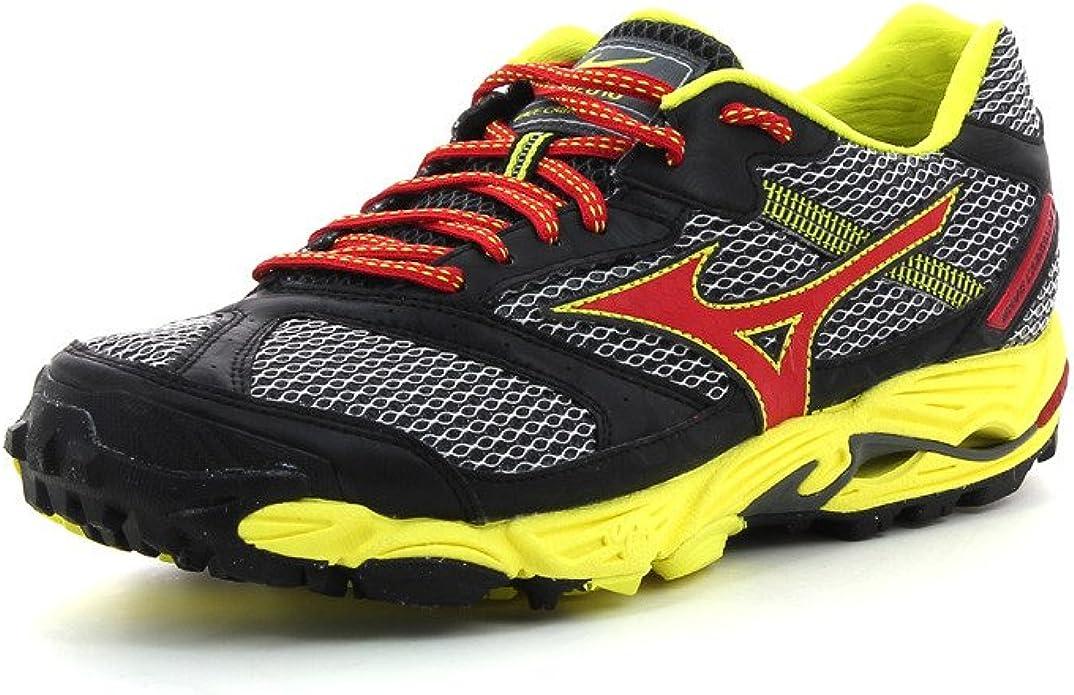 Mizuno Zapatilla Running Wave Cabrakan 5 Gris/Rojo EU 41 (UK 7.5): Amazon.es: Deportes y aire libre