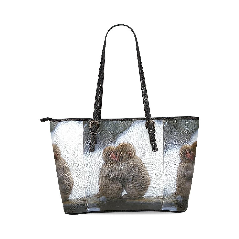 Cute Monkey Custom PU Leather Large Tote Bag/Handbag/Shoulder Bag for Fashion Women /Girls