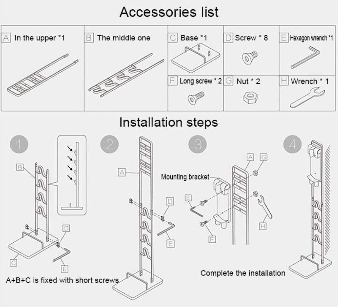 Buwico BUBM Stable Metal Storage Bracket Stand for Dyson Handheld V6 V7 V8 V10 DC30 DC31 DC34 DC35 DC58 DC59 DC62 DC74 Cordless Vacuum Cleaners by Buwico