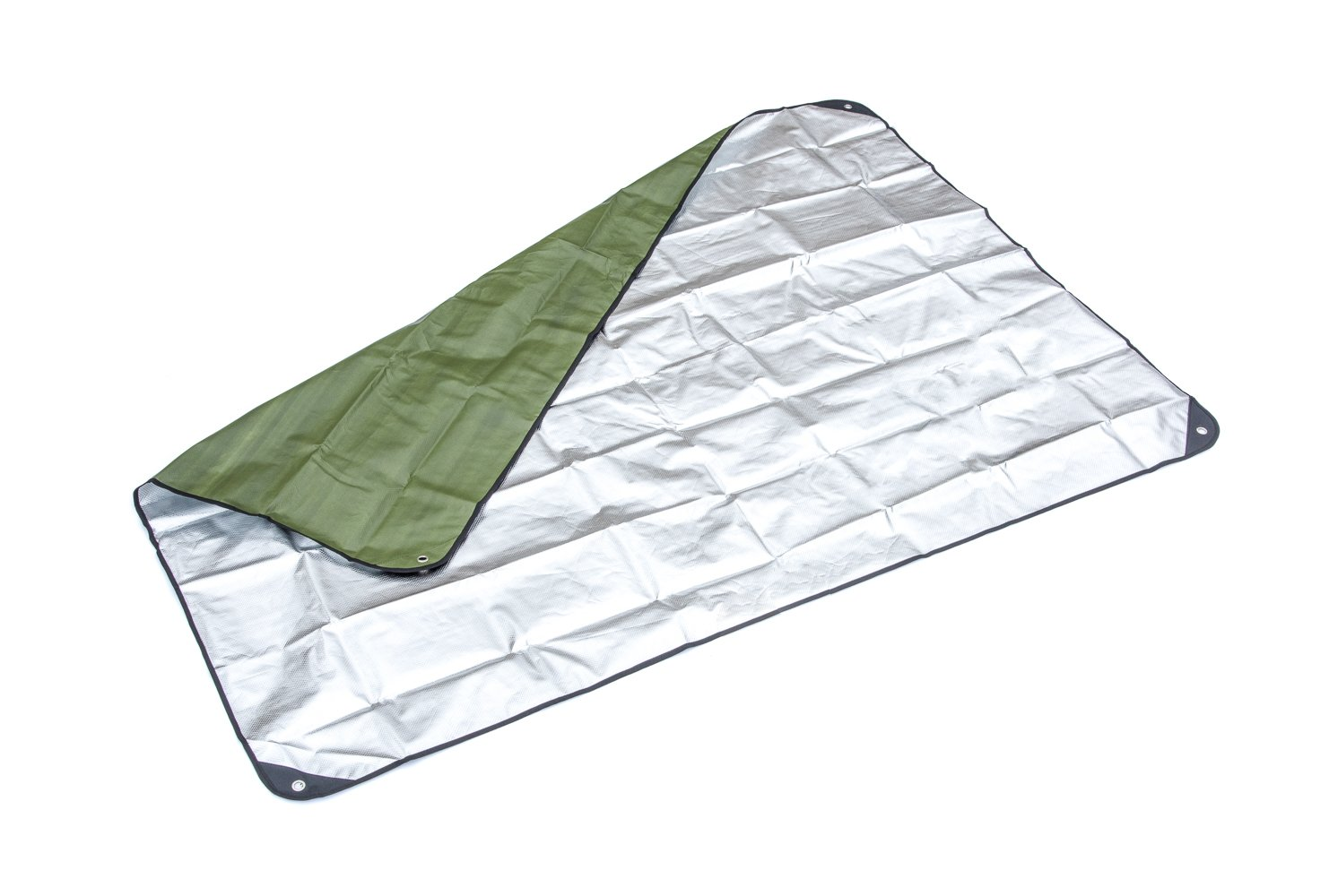 SE EB5983GN Survivor Series Thermal Reflective Waterproof Blanket, Forest/Military Green