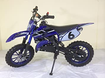 Mini Dirt Bike KXD Scrambler Motocross AZUL: Amazon.es: Deportes y aire libre