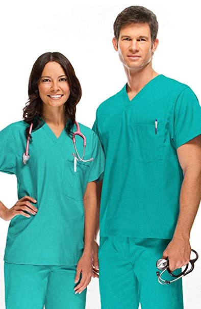 980c20d21bc Amazon.com: DSF Medical Uniform Unisex Scrub Set, Jade, S: Clothing