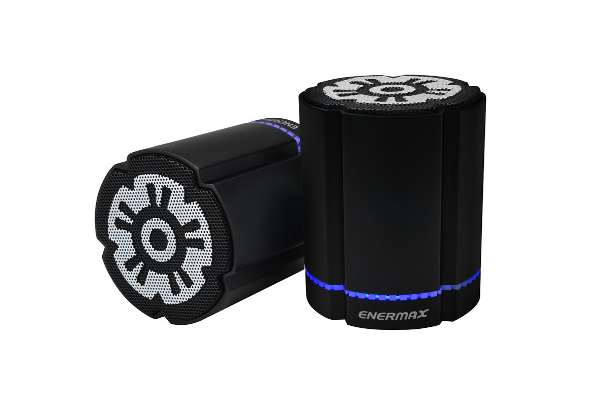 ENERMAX EAS02S-DBK 2 Units Simultaneous Pairing Function Equipped Bluetooth Speaker [2 Unit Set] Stereotwin Black