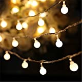 SHHE Fairy Lights 10M 80 LED 2 Modes Battery Operated Globe String Lights for Home Party Birthday Garden Festival Wedding Christmas Indoor Outdoor Use(Warm White)