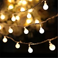 Fairy Lights Battery String Lights SHHE 10M 80 LED 2 Modes Globe Battery Operated String Lighting for Home Party Birthday Garden Bedroom Wedding Christmas Indoor Outdoor Use(Warm White)