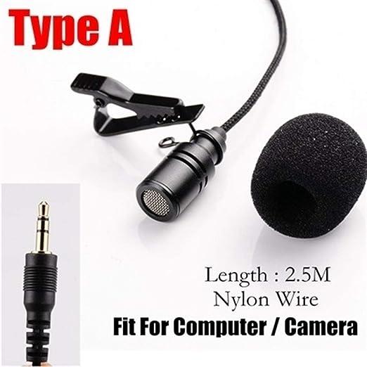 2,5 M Omnidireccional De Micrófono De Metal De 3,5 Mm Jack De ...