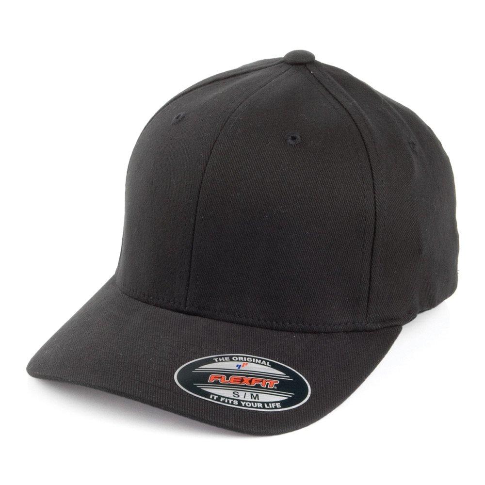 FlexFit Mid-Pro Brushed Twill Baseball Cap - Black