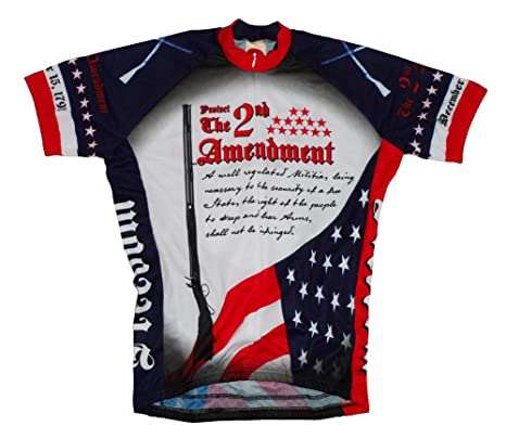 World Jerseys 2nd Second Amendment USA Cycling Jersey Men s Medium Short  Sleeve 0e3c29574