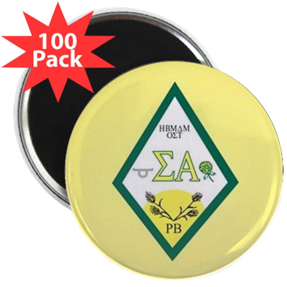 CafePress - Sigma Alpha Crest - 2.25'' Magnet (100 pack)
