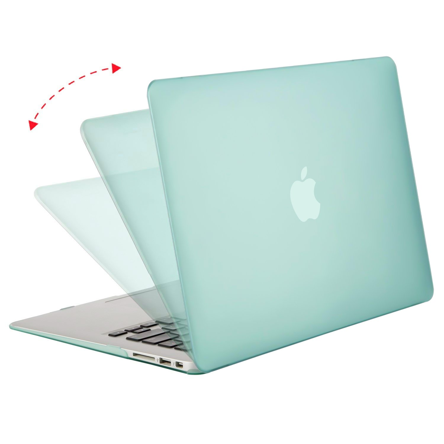 Ultra Slim Plastic Protective Snap On Shell Cover MOSISO Hard Case Compatible MacBook Air 13 inch Model A1369 // A1466 Silver Older Version Release 2010-2017