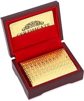 VGEBY1 Cartas de póker, Naipes con lujosas Tarjetas de póquer ...