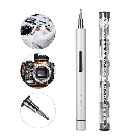 Amazon.com: Destornillador eléctrico portátil, herramienta ...