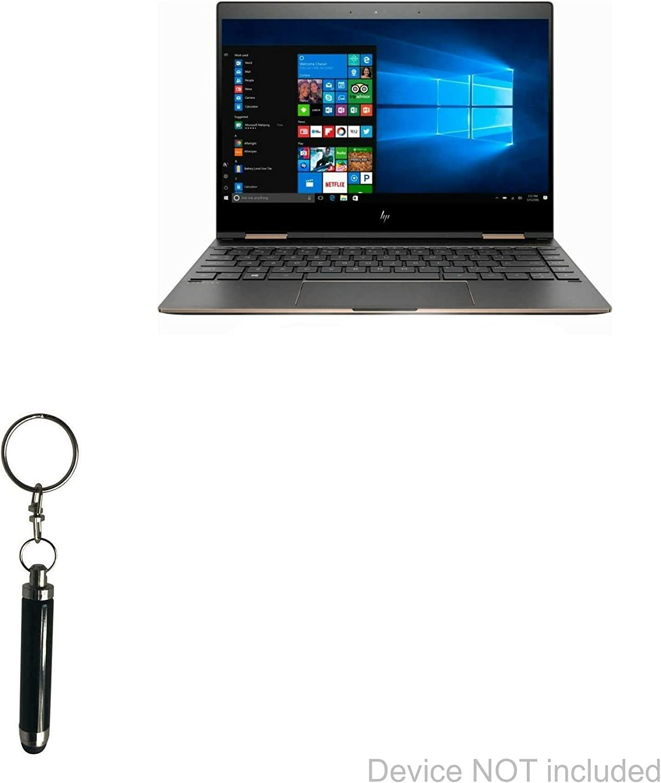 HP Spectre x360 (13t-aw100) Stylus Pen, BoxWave [Bullet Capacitive Stylus] Mini Stylus Pen with Keyring Loop for HP Spectre x360 (13t-aw100) - Jet Black