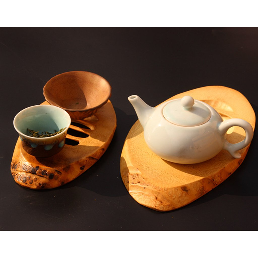 Homyl Bamboo Wooden Tea Cup Mat Wooden Tea Cup Pot Coaster Home Desk Decoration - L, as described by Homyl (Image #6)