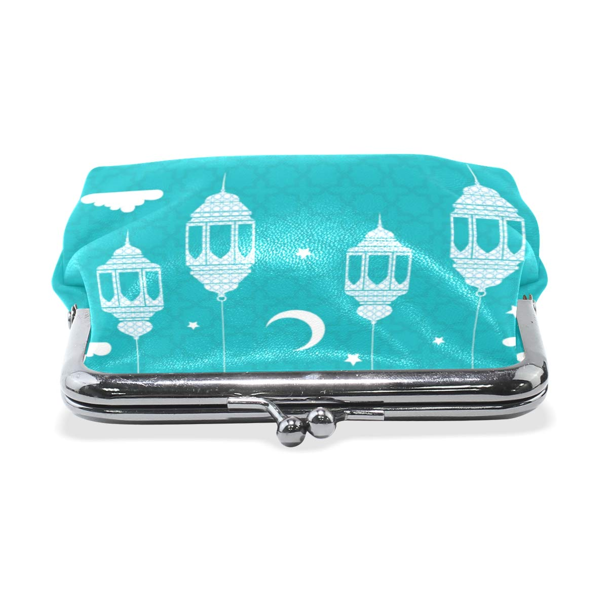 TIKISMILE Flat Lamps Leather Fashion Buckle Cute Coin Purse Bags Clutch Pouch Wallet
