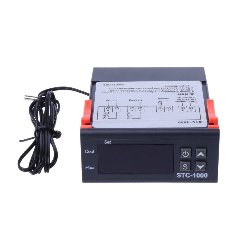 BIlinli Controlador de Temperatura Digital Multiusos STC-1000 Termostato W Sensor AC 220V