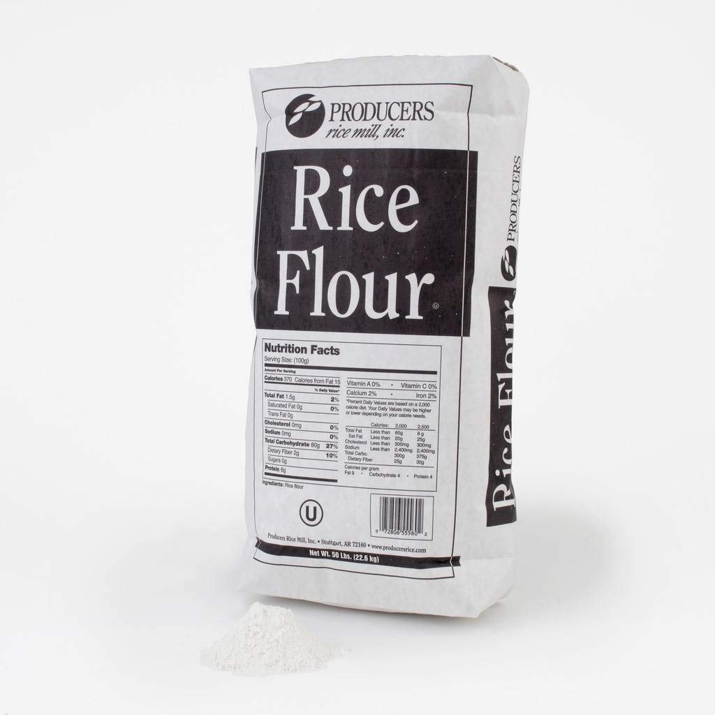 Producers Rice Flour Rice, 50 Pound - 1 each. by Producers Rice
