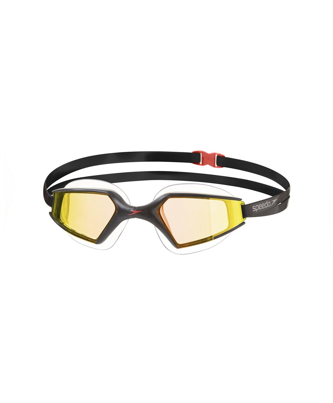 Speedoブラック、ゴールド水泳ゴーグルAquapulse Maxミラー2 サイズ M ブラック B00ORZ3SBW