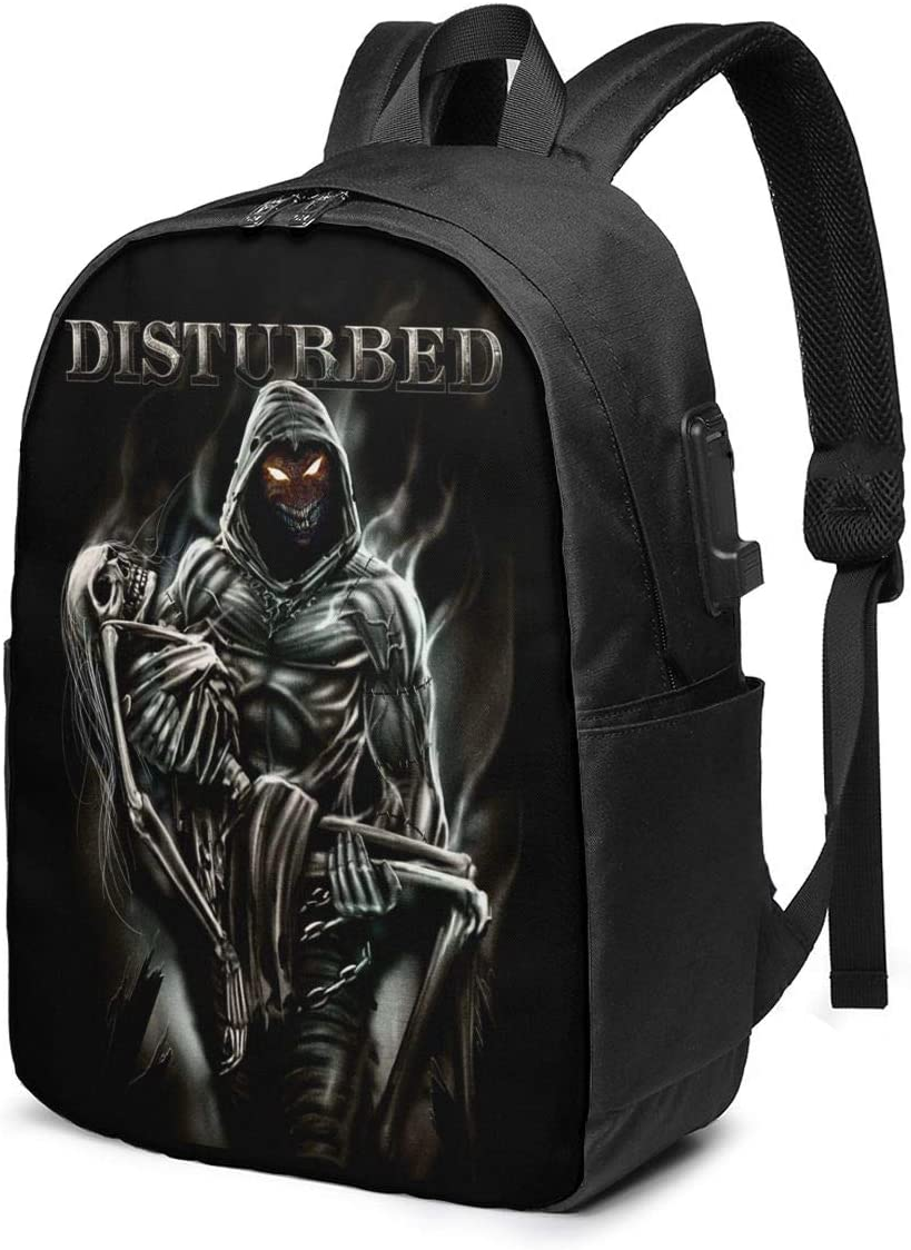 School Bag Unisex DisturbedClassic Lightweight Fashion Travel Backpack Office Bag Personalized Backpack