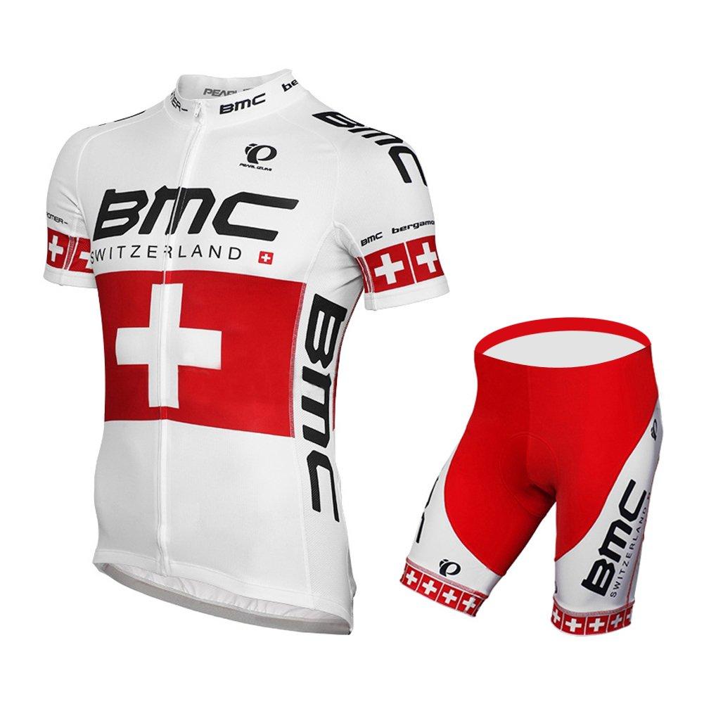 UONO メンズ 半袖 チーム サイクリング用ジャージ  パッド入り半ズボン セット B01DLMEXD8 Medium|no bib suit3 no bib suit3 Medium