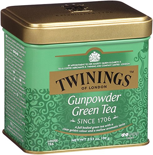 Twinings Green Gunpowder Tea, Loose Tea, 3.53-Ounce Tins (Pack of 6)