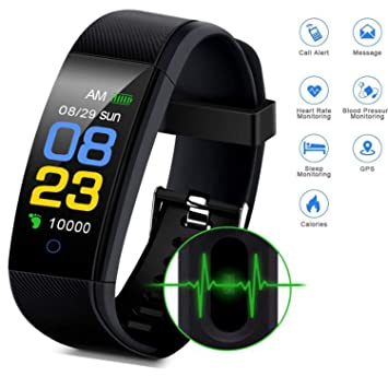 Cindynamo Fitness Tracker Watch Waterproof Watch Step Activity Tracker with Heart Rate, Sleep Monitor Pedometer Calorie Counter Call/SMS Remind for ...