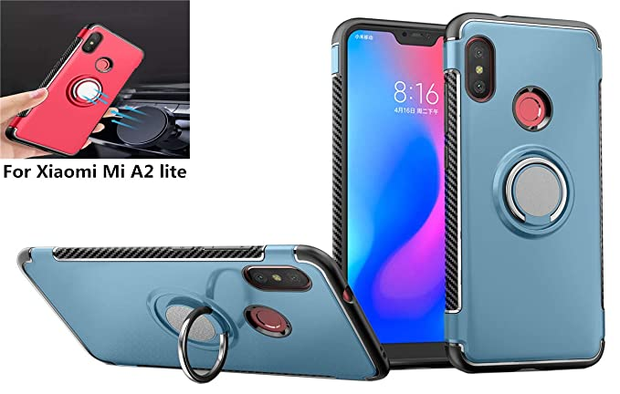 Amazon.com: Xiaomi Mi A2 Lite Case,360° Rotating Ring ...