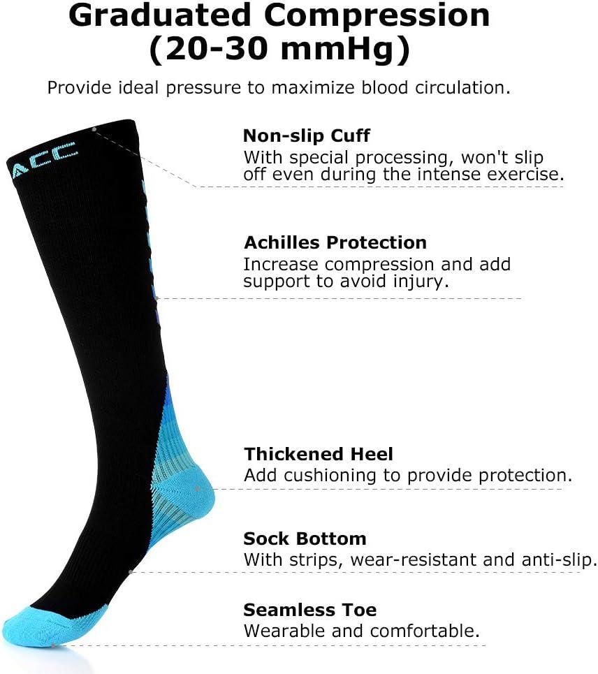 Zhouba Chaussettes de football antid/érapantes longues de compression pour gar/çon