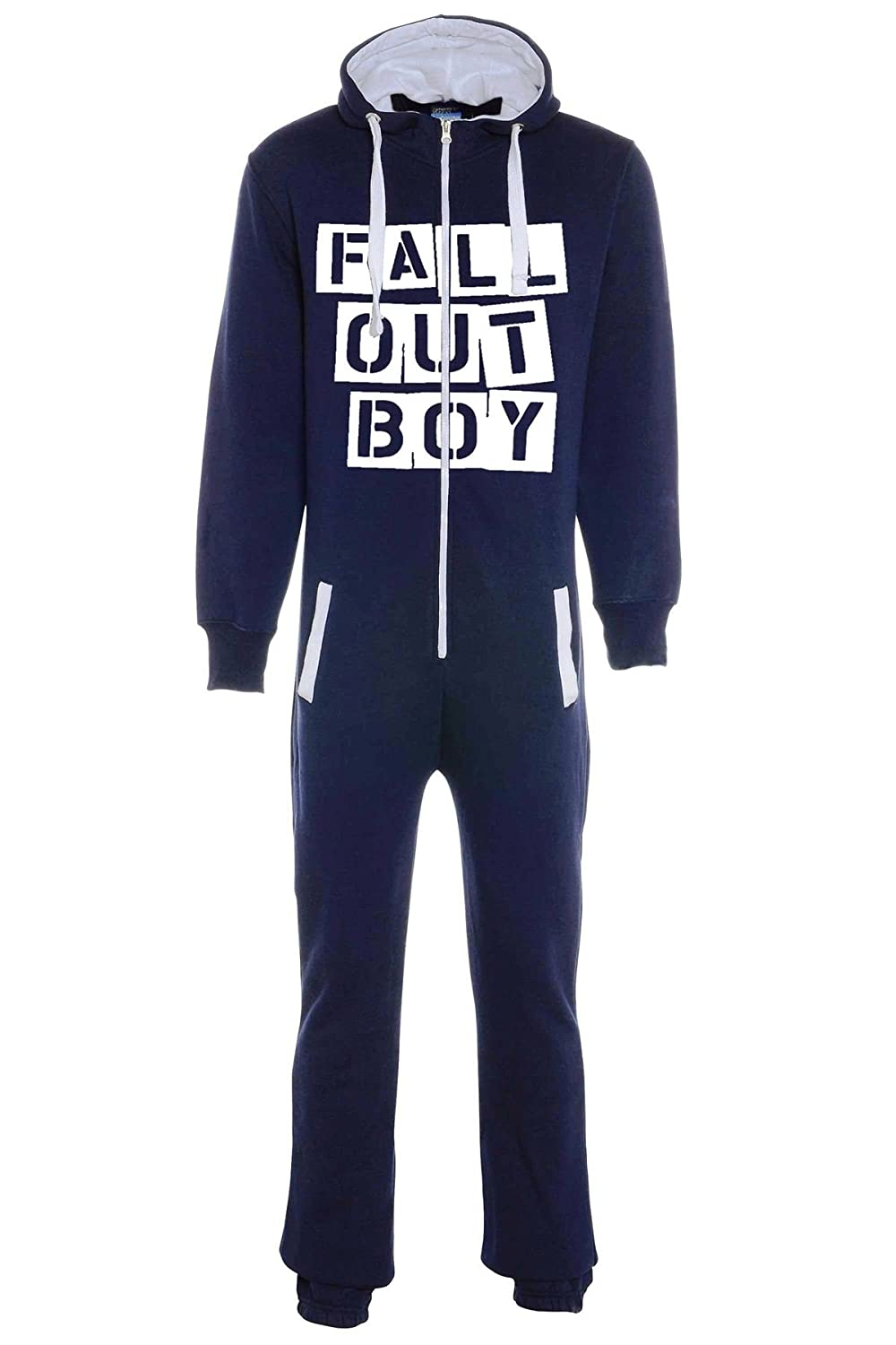 aejays Unisex Fall Out Boy Printed Onsie Color Navy Blue Size S PAK MAN LTD