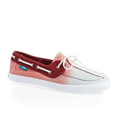 aa46ebe06e Vans Women s W Chauffette Boat Shoes red Size  4.5 UK  Amazon.co.uk ...