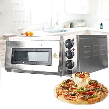 QWRW Horno Eléctrico 20L Eléctrica Pizza Horno Pastel Pan Asado De Pollo Pizza Cooker Uso Comercial Hornos De Cocina Horno Con Pizza Piedras: Amazon.es: ...