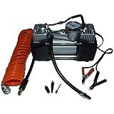 Portable Mini Air Compressor Heavy Duty Twin Piston 12v Double Head Superfast ! by DYNATEC