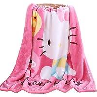 FSKY Throw Blanket Hello Kitty Blankets Cartoon Printing Cover Flannel Super Soft Plush Beach Sherpa for Adults Boys…