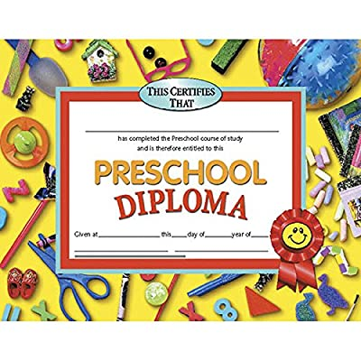 Diplomas Preschool Certificate (Set of 30): Toys & Games