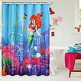 E-gift Beautiful Little Mermaid Castle Custom Shower Curtain 72' x 72'