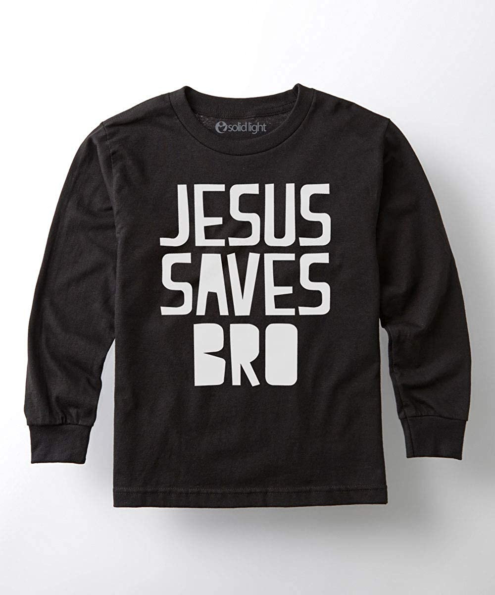 Jesus Saves Bro Toddler Long Sleeve Tee