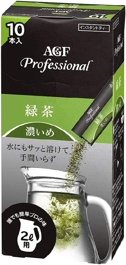 AGF プロフェッショナル 濃いめ 緑茶2L用×10本