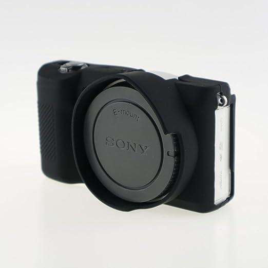 Fnship Professionelle Kamera Schutzhülle Aus Weichem Silikon Für Sony Alpha A5100 A5000 16 50 Mm Dslr Kameratasche Schwarz Elektronik